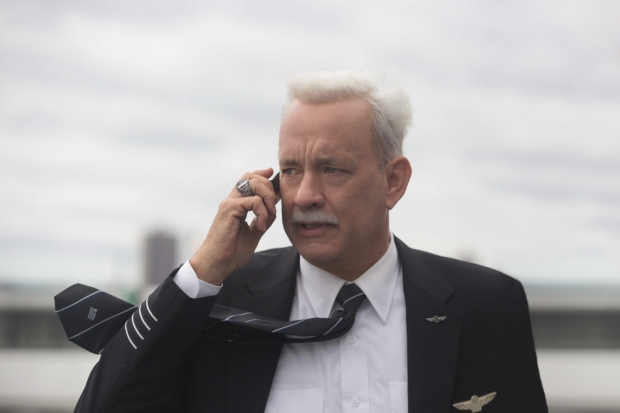 This image released by Warner Bros. Pictures shows Tom Hanks in a scene from the film, 'Sully.' (Keith Bernstein / Warner Bros. Pictures via AP)