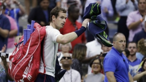 Andy Murray, of the United Kingdom, walks from the court after losing to Kei Nishikori, of Japan, during the quarterfinals of the U.S. Open tennis tournament, Wednesday, Sept. 7, 2016, in New York. (AP / Julio Cortez)