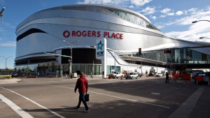 Rogers Place Arena, the new home of the Edmonton Oilers, is shown in Edmonton, Alta., on Wednesday September 7, 2016. (THE CANADIAN PRESS/Jason Franson)