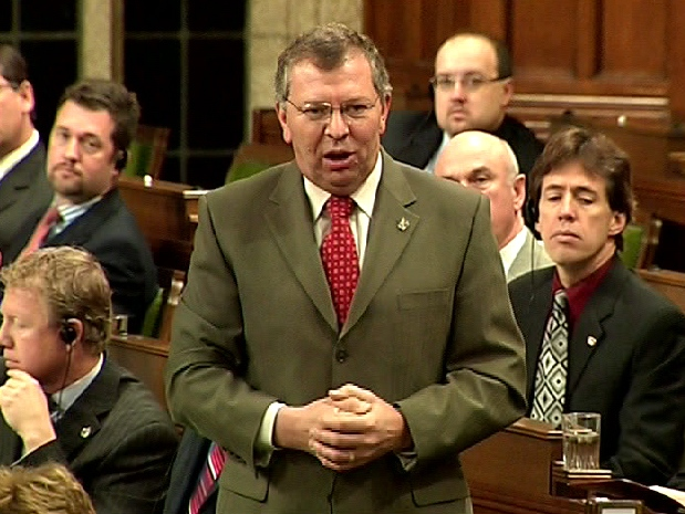 Parliamentary Secretary Ted Menzies responds during question period in the House of Commons, Friday, Feb. 6, 2009.