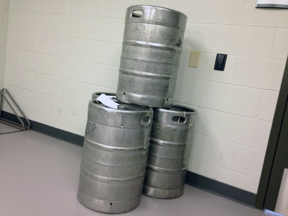 Kegs Seized From A House Party On Tamarack Drive In Waterloo Are Shown Thursday Sept 8 2016 Nicole Lampa CTV Kitchener