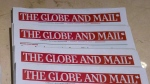 Copies of The Globe and Mail are displayed at a hotel in Burnaby, B.C., on Tuesday, Jan. 19, 2016. (THE CANADIAN PRESS/Darryl Dyck)