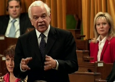 Liberal finance critic John McCallum stands during question period in the House of Commons, Friday, Feb. 6, 2009.