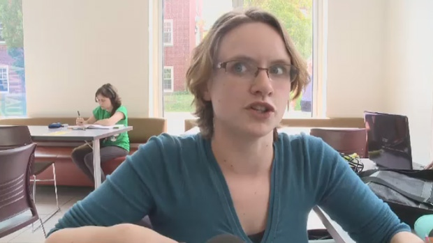 University student Marie Meade says she is skeptical of the New Brunswick government's plan to give low-income families free tuition.