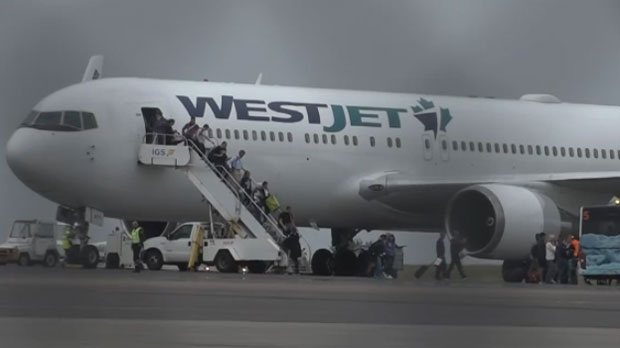 Westjet emergency landing