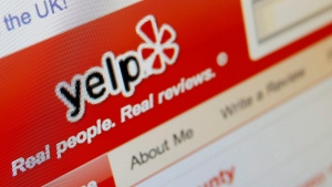 This photo shows the Yelp website on a computer screen in Los Angeles on March 17, 2010. (Richard Vogel/AP)