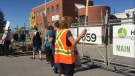 Locked-out workers picket outside Hematite Manufacturing in Guelph on Monday, Sept. 12, 2016. (Victoria Levy / CTV Kitchener)