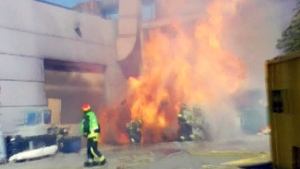 Fire crews blasted by Abbotsford explosion