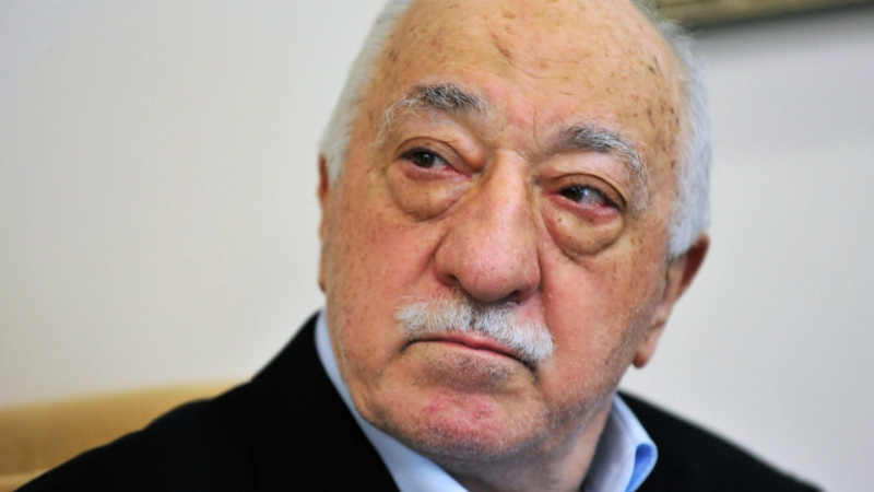 In this July, 2016 file photo, Islamic cleric Fethullah Gulen speaks to members of the media at his compound, in Saylorsburg, Pa. (AP / Chris Post, File)