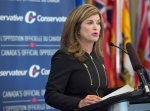 Interim leader Rona Ambrose addresses the national Conservative summer caucus retreat in Halifax on Tuesday, Sept. 13, 2016. The two-day event will allow the party to prepare for next week's return of Parliament. THE CANADIAN PRESS/Andrew Vaughan