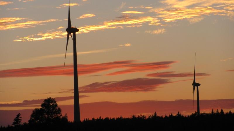 Wind turbines are seen in Ellershouse, N.S. (Bill Mills)