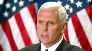 Republican vice president candidate, Indiana Gov. Mike Pence speaks at the Republican National Headquarters on Capitol Hill in Washington, Tuesday, Sept. 13, 2016. (AP Photo / Cliff Owen)