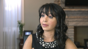 Basma Hameed, paramedical tattto artist, speaks with CTV News in this undated image.