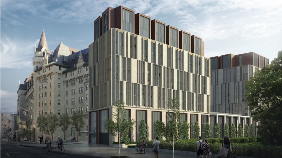 The proposed new look for the Chateau Laurier in O