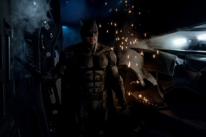 Ben Affleck is shown as Batman wearing the new 'tactical Batsuit' in the film 'Justice League.' (Zack Snyder / Twitter)