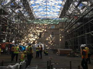 The West Block of Parliament Hill has been undergoing restoration work since 2011. The former courtyard will be the new home to the House of Commons once restoration work begins on Centre Block. (CTV NEWS / Laura Payton)