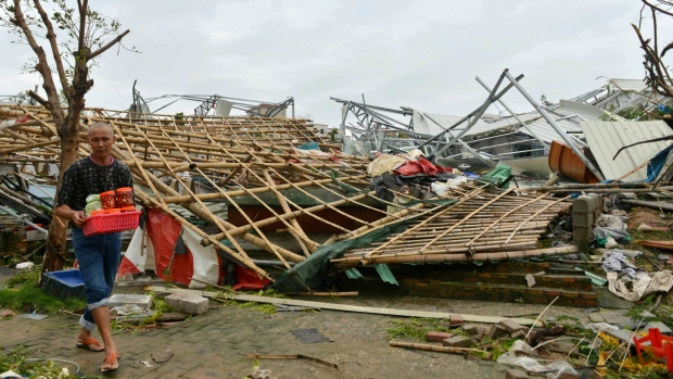 Aftermath of Typhoon Meranti in China