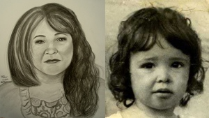 A sketch of what Diane Prevost may look like at 45 years old by Certified (IAI) Forensic Artist, Diana P. Trepkov. (dianeprevost.info)