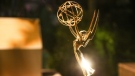 An Emmy statuette is displayed inside the Governor's Ball at the 2016 Primetime Emmy Awards Press Preview Day at the Los Angeles Convention Center on Wednesday, Sept. 14, 2016, in Los Angeles. (Rich Fury/AP)