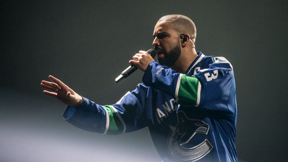 Drake performs in Vancouver in this undated image.