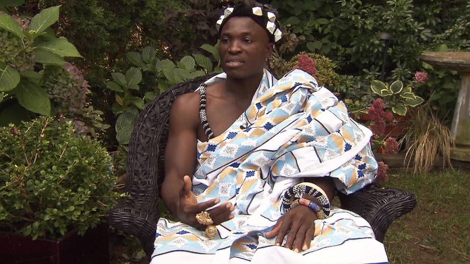 Eric Manu, a Langley, B.C. man who was crowned chief of the Akan tribe in the village of Adansi Aboabo No. 2 in southern Ghana last year, speaks with CTV News.