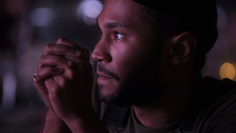 Kaytranada watches a performance at the 2016 Polaris Music Prize in Toronto on Monday, Sept. 19, 2016. (Chris Young / THE CANADIAN PRESS)
