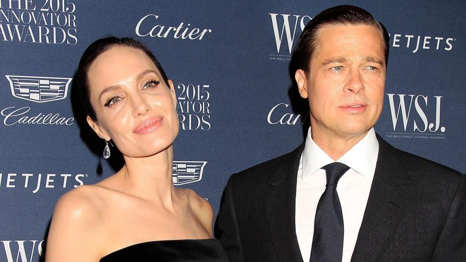 Angelina Jolie Pitt, left, and Brad Pitt attend the 2015 Innovator Awards hosted by WSJ. Magazine in New York on Wednesday, Nov. 4, 2015. (Dave Allocca / Starpix)