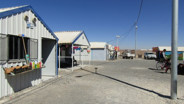 Rows of shops at Azraq