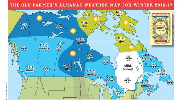 Brace for frigid, snowy winter: Old Farmer's Almanac   CTV News