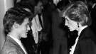 Diana, Princess of Wales, has a quiet chat with Vancouver-born rock star Bryan Adams Saturday night at the Expo Theatre in Vancouver on May 5, 1986. (Ryan Remiorz / The Canadian Press)