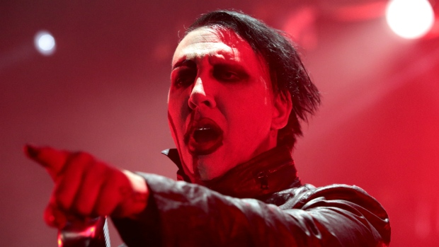 Marilyn Manson performs in concert during the 'End Times Tour 2015' at the Susquehanna Bank Center, in Camden, N.J. on Aug. 2, 2015. (Owen Sweeney / Invision)