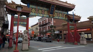 The gates of Victoria's Chinatown are shown in this undated photo. (CTV News)