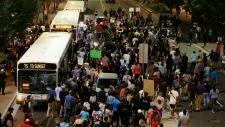 Demonstrators protest in Charlotte, N.C.