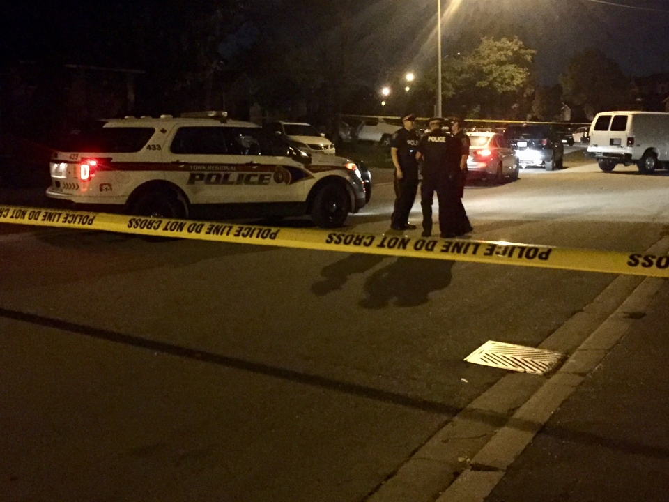 Police investigate a homicide in the area of Langstaffe and Weston roads in vaughan Thursday September 22, 2016. (Mike Nguyen /CP24)