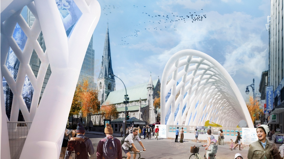 Giant inflatable pergolas are coming to Montreal in late 2017. Assuming they work in practice.