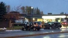 Crash on 24 St SW near Woodbine/Woodlands