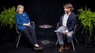 Democratic presidential candidate Hillary Clinton, left, appears with actor-comedian Zach Galifianakis during an appearance for the online comedy series, 'Between Two Ferns.' (FunnyorDie.com)