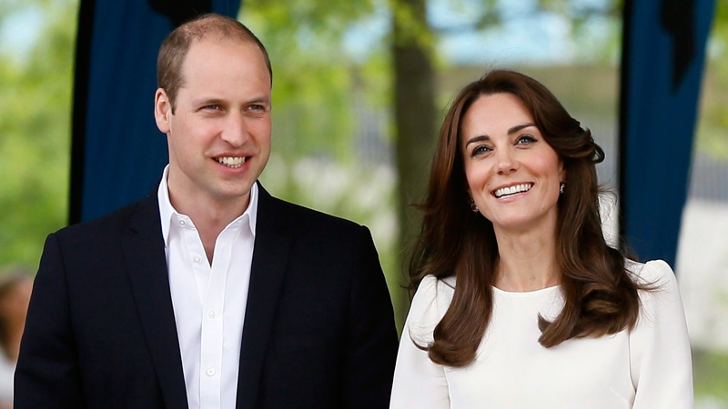 Prince William, left, and Kate, the Duchess of Cambridge arrive to attend the launch of Heads Together mental health charity at the Olympic Park in London, Monday, May 16, 2016. (AP / Kirsty Wigglesworth)