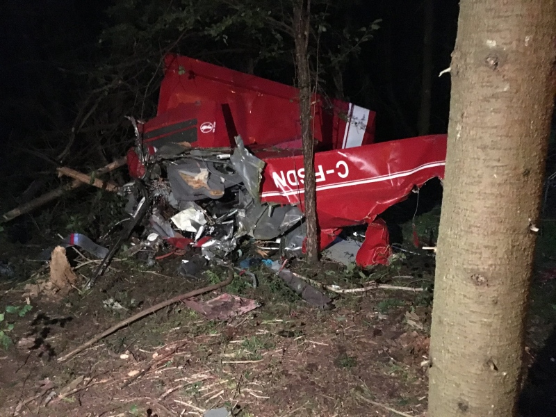 An ultralight plane crashed in Puslinch Township on Saturday, September 24th, 2016, killing the pilot. (CTV Kitchener / Abiey Lema)