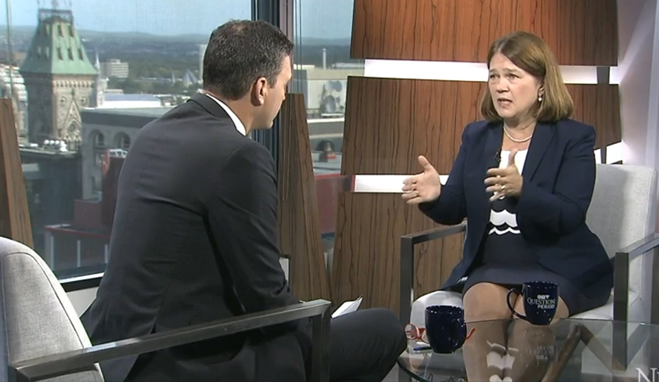Health Minister Jane Philpott in an interview with Evan Solomon, host of CTV's Question Period.