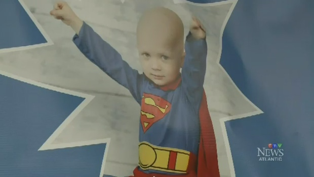 Caleb would often dress up as a superhero while he stayed at the Cape Breton Regional Hospital.