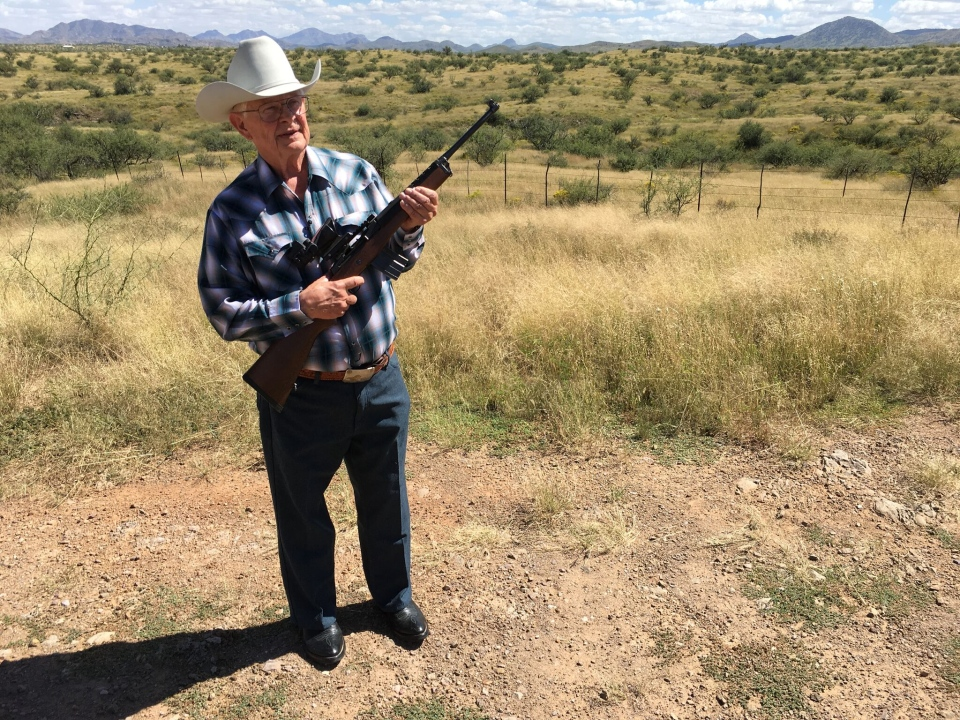 Arizona ranch owner Jim Chilton says people who cross the border illegally from Mexico go right across his property. (CTV / Will Dugan)