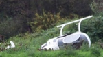 Homemade helicopter crashes