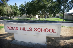 This Thursday, Sept. 22, 2016 photo shows the Indian Hills Elementary School in Jurupa Valley, Calif. Lab tests have confirmed leprosy, or Hansen's disease, in a child who attended the school. Riverside County health officials on Thursday announced the confirmation of the condition in the child. (Kurt Miller/The Press-Enterprise/SCNG via AP)