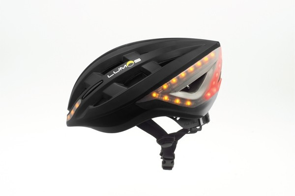 The Lumos helmet features bright LED lights for increased visibility and safety on the roads.(Lumos)