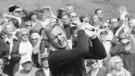 """File-This Feb. 19, 1976, file photo shows Arnold Palmer for the start of Glenn Cambell Los Angeles Open. Palmer, who made golf popular for the masses with his hard-charging style, incomparable charisma and a personal touch that made him known throughout the golf world as """"The King,"""" died Sunday, Sept. 25, 2016, in Pittsburgh. He was 87. THE CANADIAN PRESS/AP-JLR, File"""