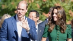 The Duke and Duchess of Cambridge arrive for an event at the University of British Columbia's Okanagan campus in Kelowna, B.C., Tuesday, Sept. 27, 2016. THE CANADIAN PRESS/Jonathan Hayward