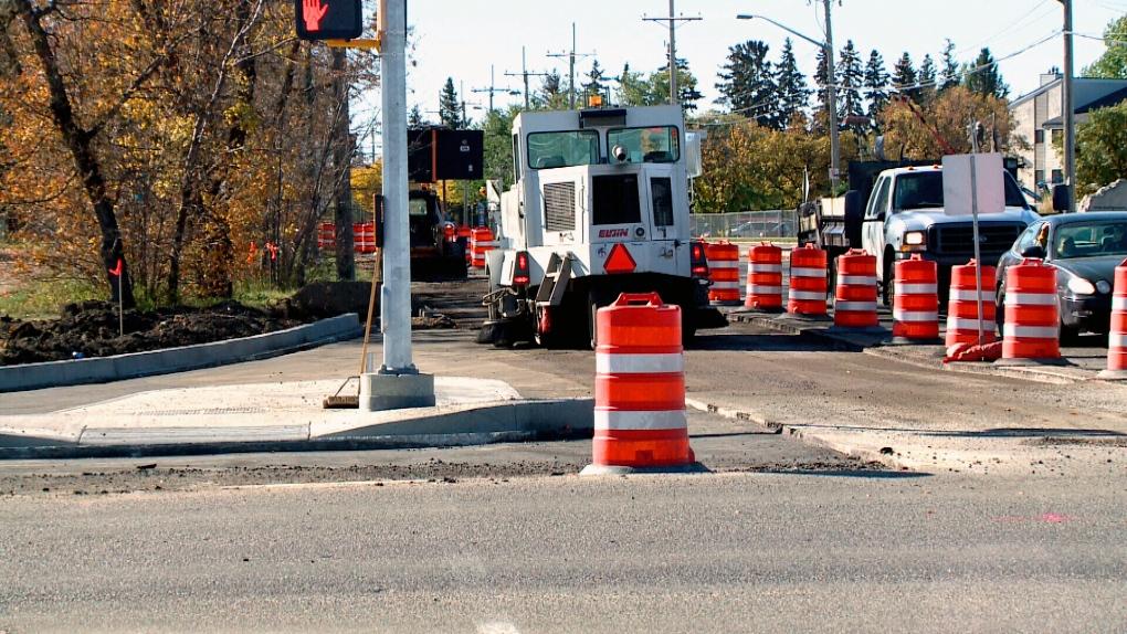 Central Avenue and Attridge Drive construction