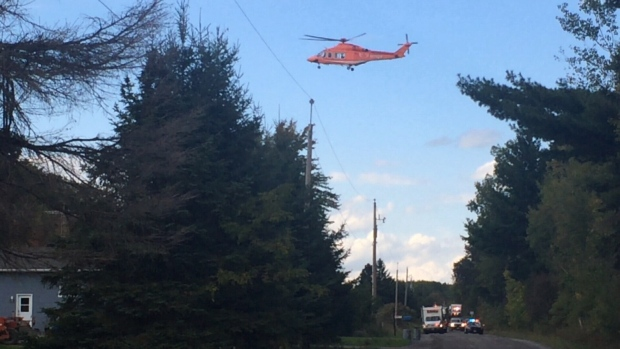 Clarence Creek man airlifted to hospital after being trapped in a ... - CTV News