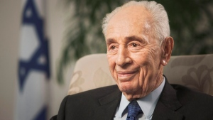 In this Nov. 2, 2015 file photo, former Israeli President Shimon Peres speaks during an interview with The Associated Press in Jerusalem. (AP Photo / Dan Balilty, File)